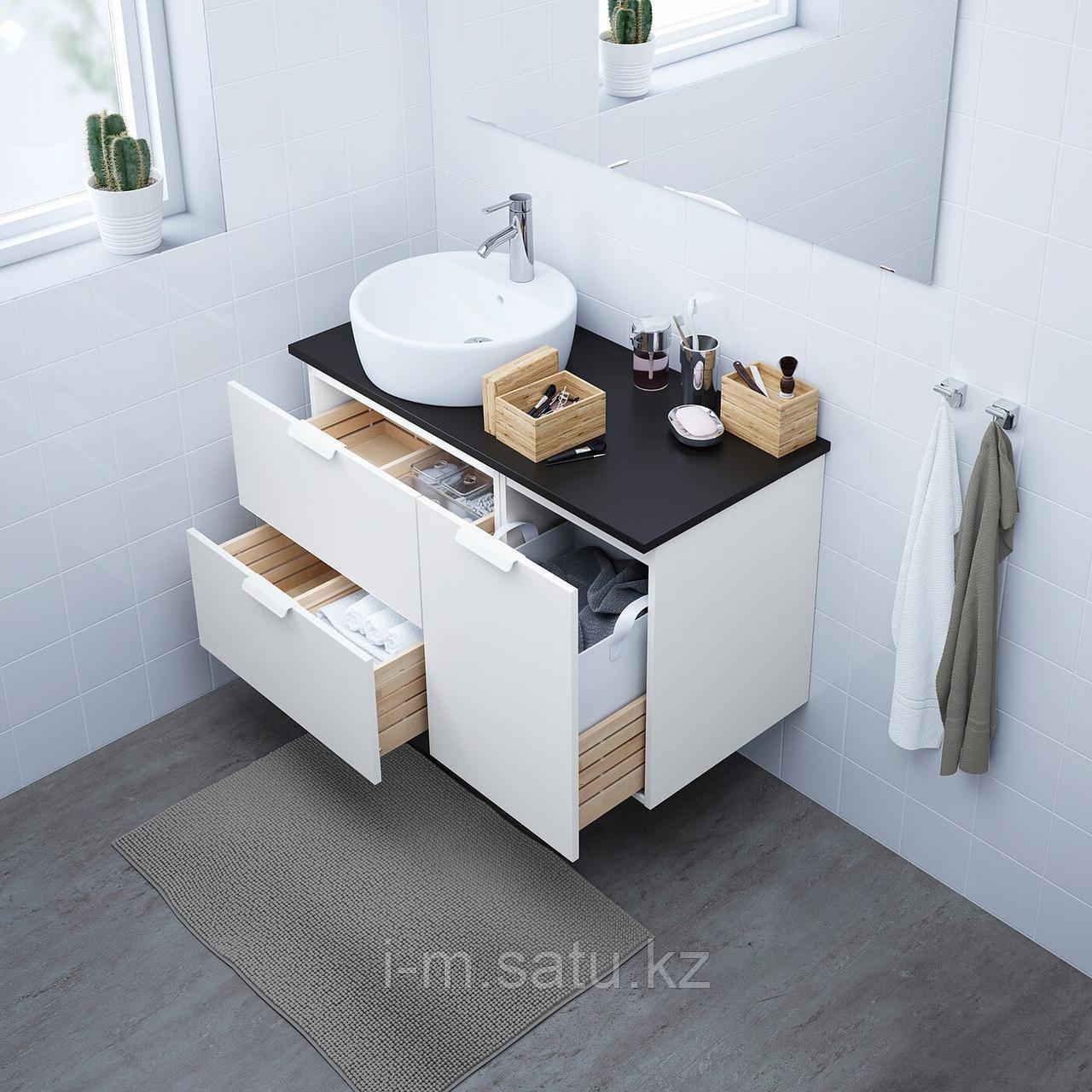 ГОДМОРГОН Шкаф, белый, 40x47x58 см