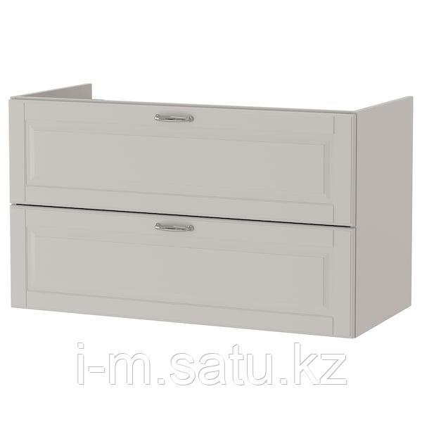 ГОДМОРГОН Шкаф для раковины с 2 ящ, Кашён светло-серый, 100x47x58 см