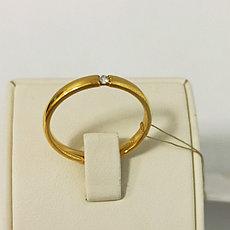 Обручальное кольцо  с бриллиантом -  20,5 размер