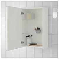 ЛИЛЛОНГЕН Зеркальный шкаф с 1 дверцей, белый, 40x21x64 см