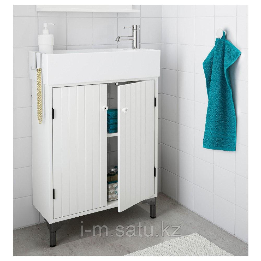 СИЛВЕРОН Шкаф под раковину с 2 дврц, белый, 60x25x68 см