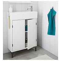 СИЛВЕРОН Шкаф под раковину с 2 дврц, белый, 60x25x68 см, фото 1