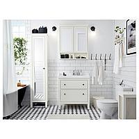 ХЕМНЭС / РЭТТВИКЕН Шкаф для раковины с 2 ящ, белый, РУНШЕР смеситель, 82x49x89 см, фото 1