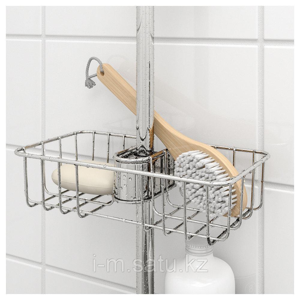 ВОКСНАН Полка для ванной, хромированный, 25x6 см