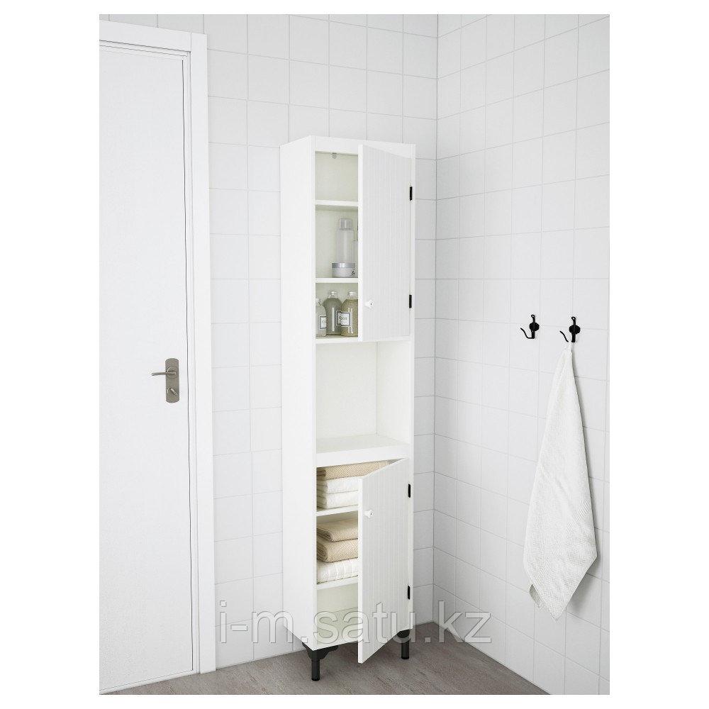 СИЛВЕРОН Шкаф высокий,2дверный, белый, 40x25x172 см