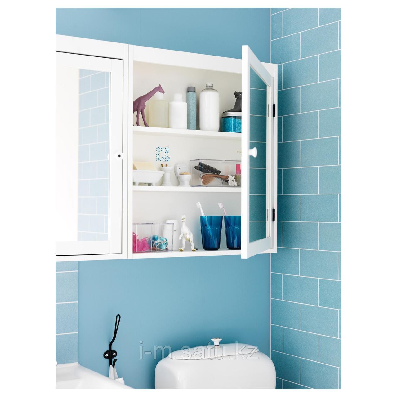 СИЛВЕРОН Шкафчик зеркальный, белый, 60x14x68 см
