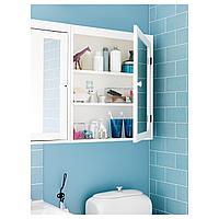 СИЛВЕРОН Шкафчик зеркальный, белый, 60x14x68 см, фото 1