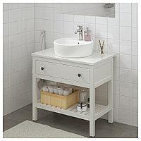 ХЕМНЭС Открытый шкаф для раковины,1 ящик, белый, 82x48x76 см, фото 1
