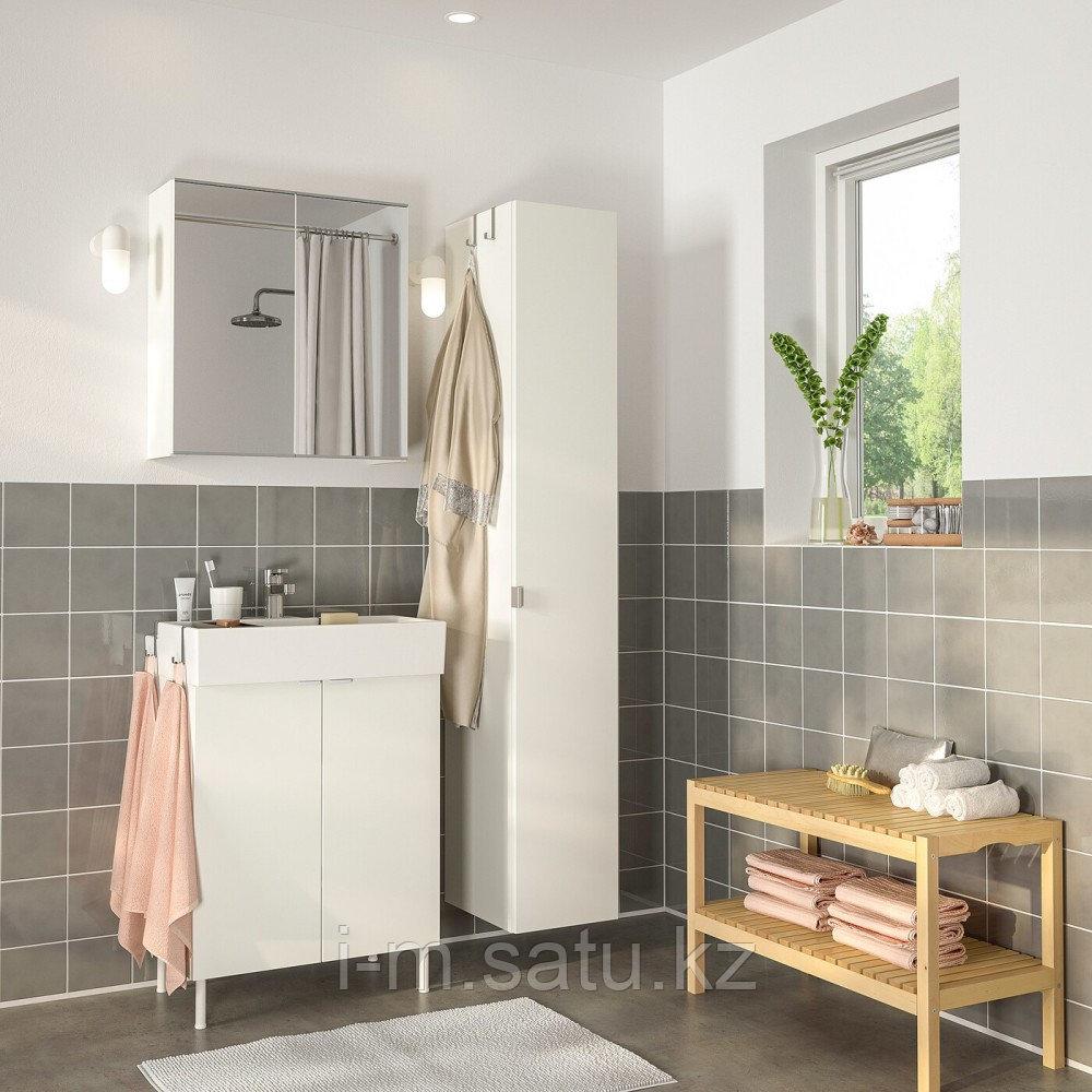 ЛИЛЛОНГЕН / ЛИЛЛОНГЕН Комплект мебели для ванной,6 предм., белый, ЭНСЕН смеситель, белый