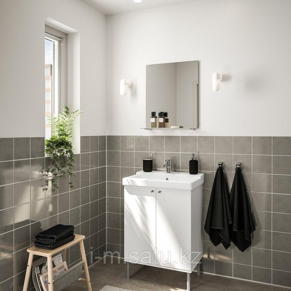 ФУЛЛЕН / ТЭЛЛЕВИКЕН Комплект мебели для ванной,4 предм., белый, ЭНСЕН смеситель, 61 см