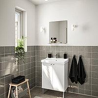 ФУЛЛЕН / ТЭЛЛЕВИКЕН Комплект мебели для ванной,4 предм., белый, ЭНСЕН смеситель, 61 см, фото 1
