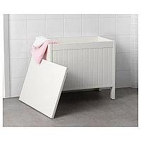 СИЛВЕРОН Скамья с ящиком, белый, фото 1
