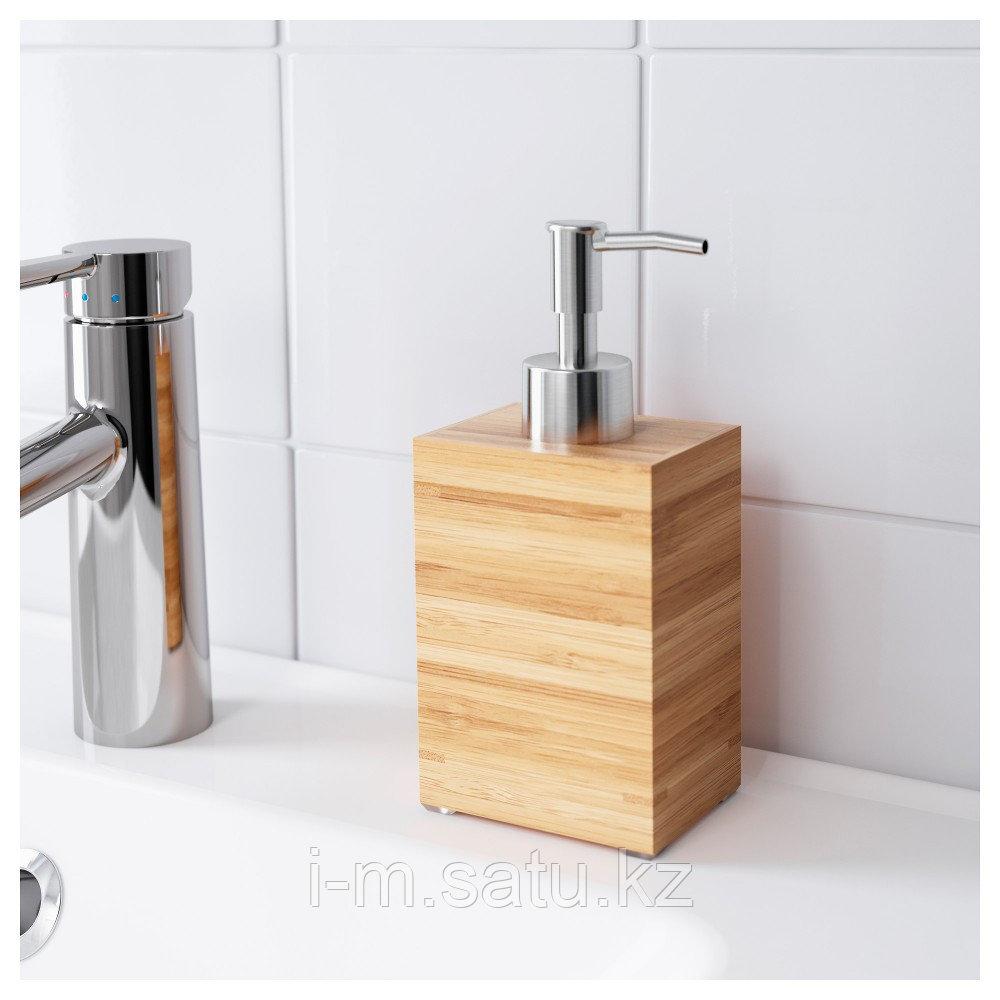 ДРАГАН Дозатор для жидкого мыла, бамбук, бамбук