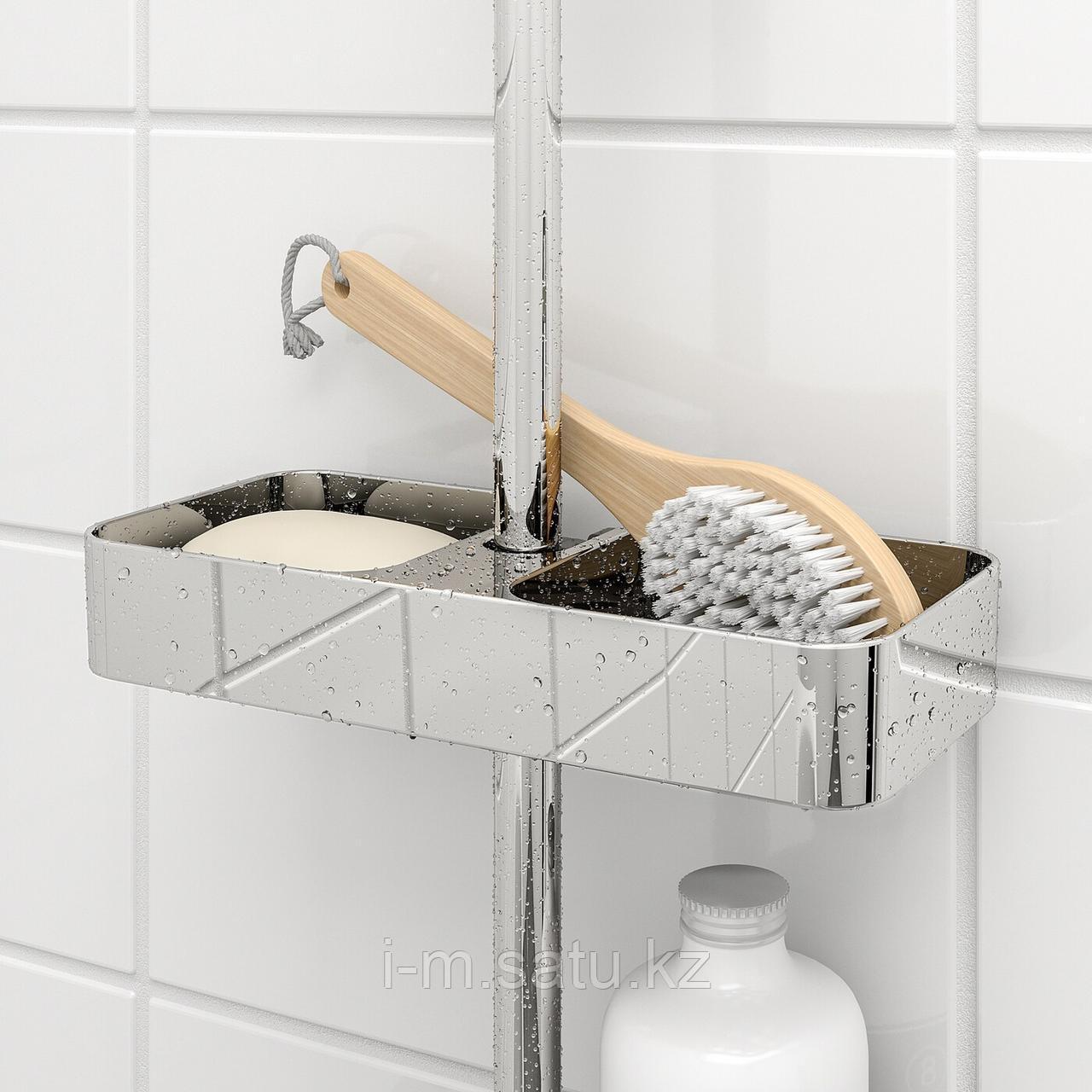 БРОГРУНД Полка для ванной, хромированный, 25x4 см