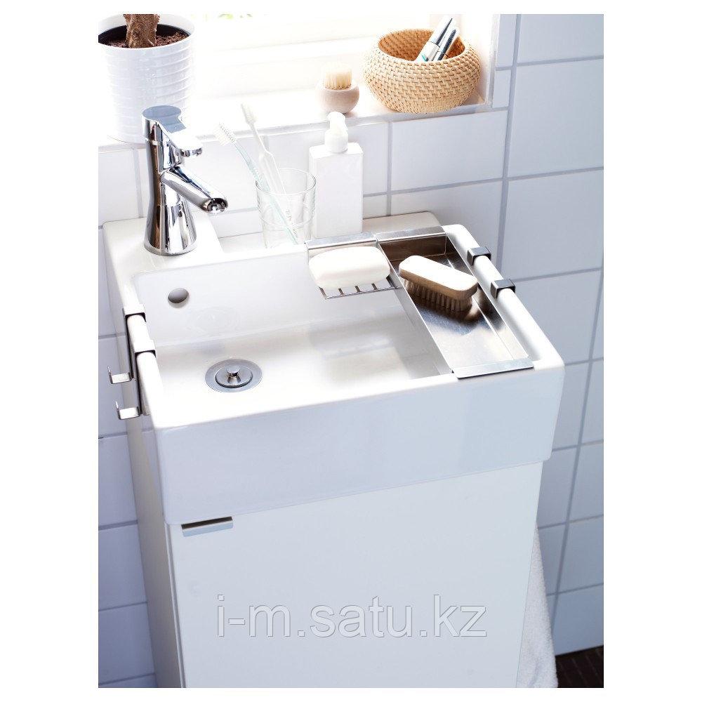 ЛИЛЛОНГЕН Шкаф под раковину с 1 дверцей, белый, белый 40x38x64 см