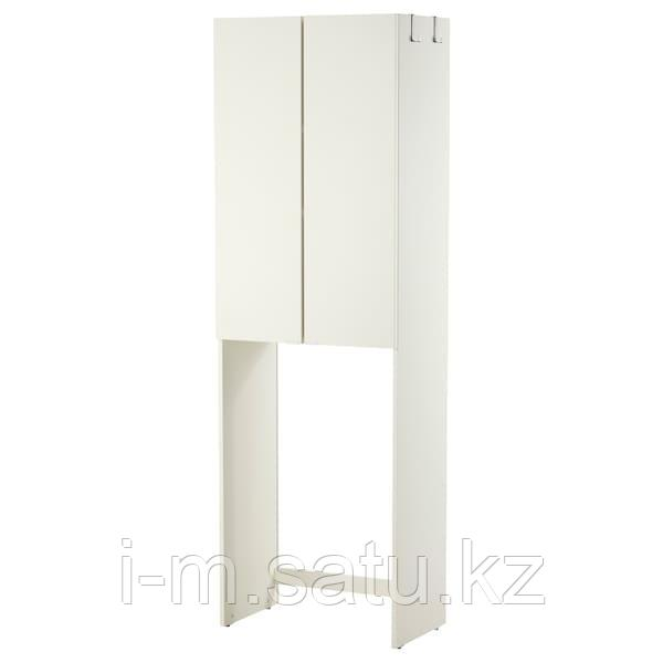 ЛИЛЛОНГЕН Шкаф для стиральной машины, белый, белый 64x38x195 см