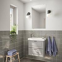 ГОДМОРГОН / ХАГАВИКЕН Комплект мебели для ванной,4 предм., Кашён светло-серый, ВОКСНАН смеситель, белый, фото 1