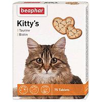 Beaphar Kitty's + Taurine + Biotine, 75 таб. - кормовая добавка с биотином и таурином для кошек