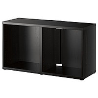 БЕСТО Тумба под ТВ, черно-коричневый, 120x40x64 см