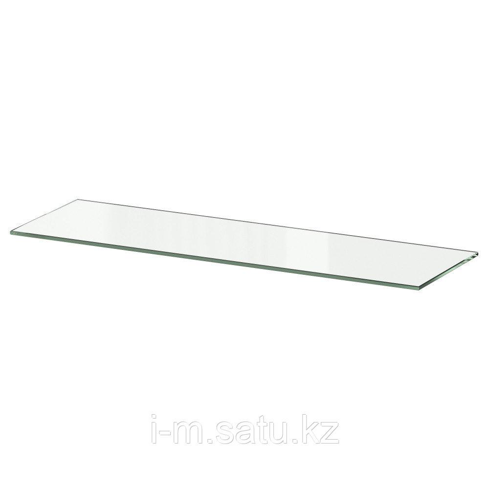БЕСТО Полка стеклянная, стекло, 56x16 см