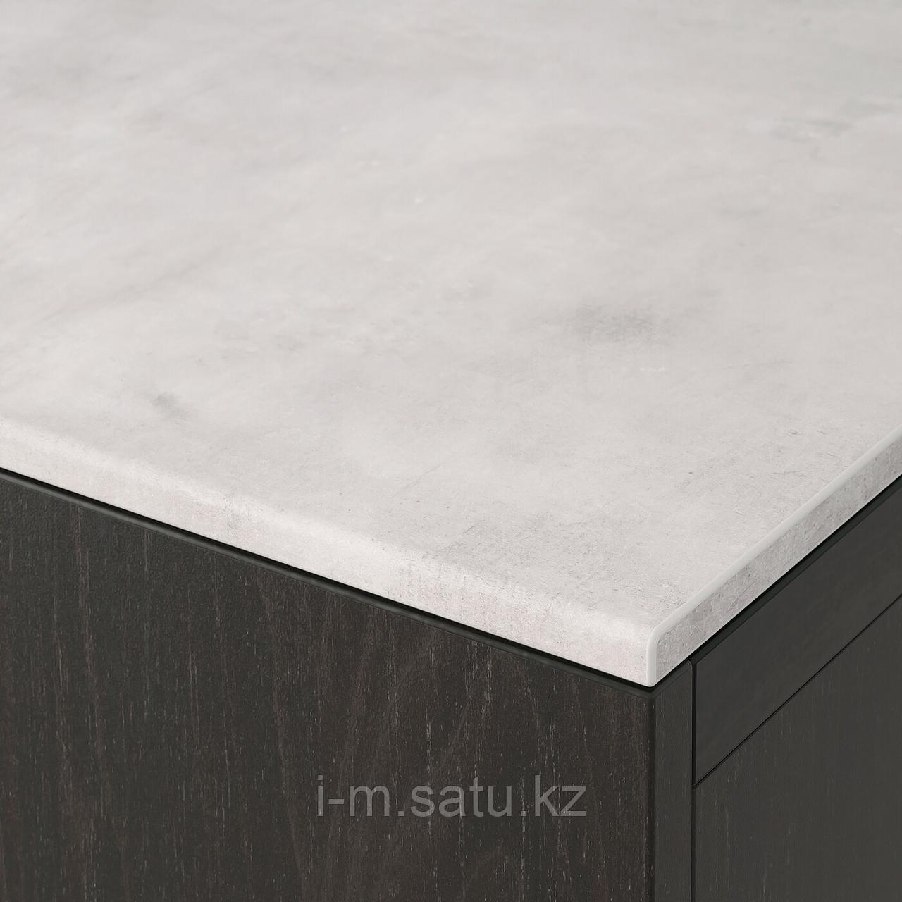 БЕСТО Верхняя панель, под бетон, светло-серый, 120x42 см