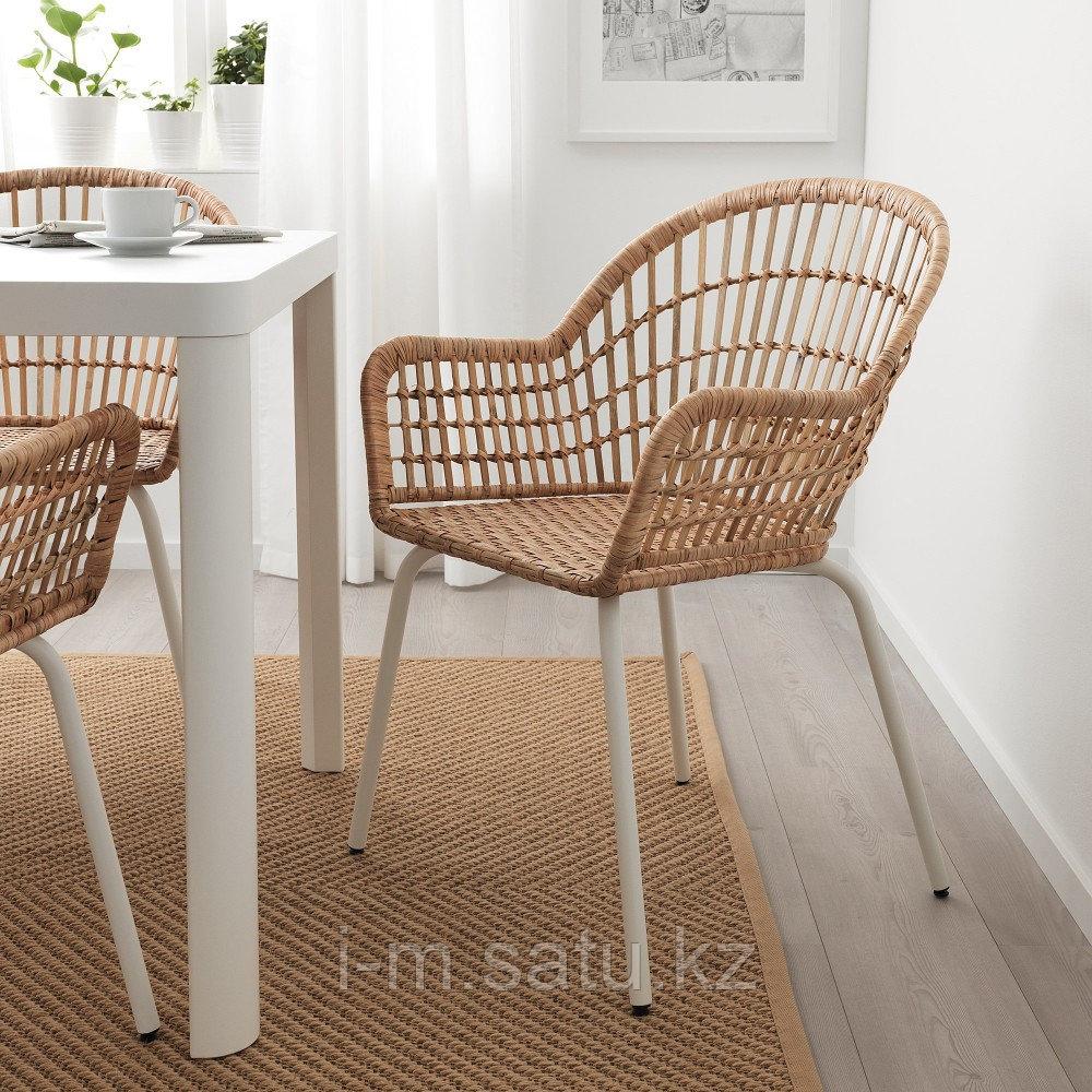 НИЛЬСОВЕ Легкое кресло, ротанг, белый
