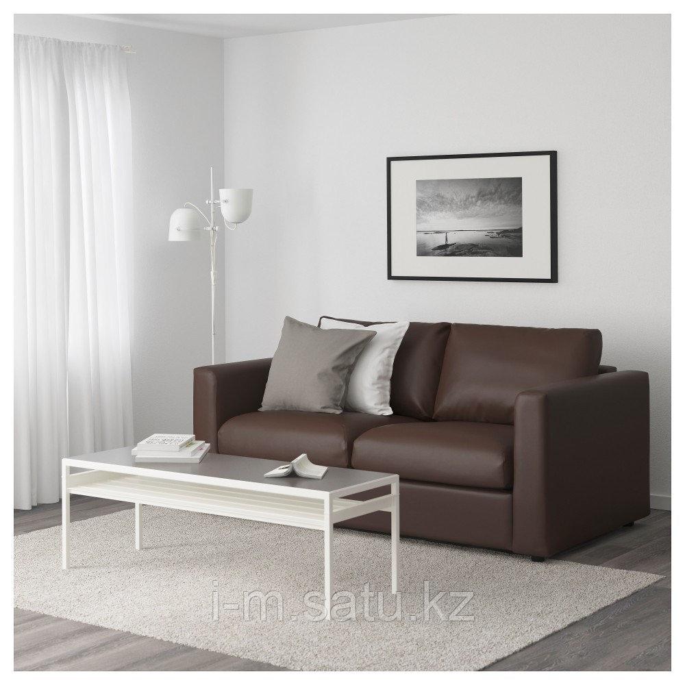 ВИМЛЕ 2-местный диван, Фарста темно-коричневый, Фарста темно-коричневый