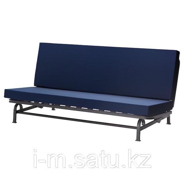 ЭКСАРБИ 3-местный диван-кровать, темно-синий, темно-синий