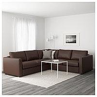 ВИМЛЕ 4-местный угловой диван, Фарста темно-коричневый, Фарста темно-коричневый, фото 1