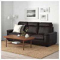 ЛИДГУЛЬТ 3-местный диван, Гранн/Бумстад темно-коричневый, Гранн/Бумстад темно-коричневый, фото 1