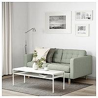 ЛАНДСКРУНА 2-местный диван, Гуннаред светло-зеленый/дерево, фото 1