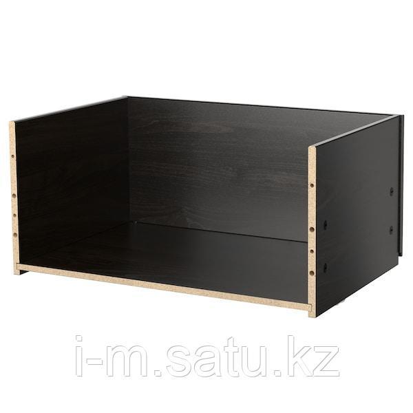 БЕСТО Каркас ящика, черно-коричневый, 60x25x40 см