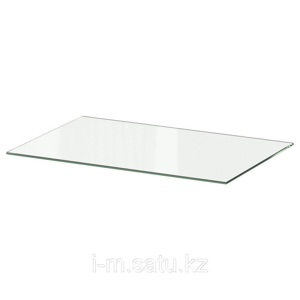 БЕСТО Полка стеклянная, стекло, 56x36 см