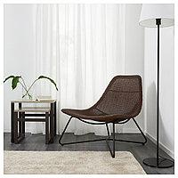 РОДВИКЕН Кресло, темно-коричневый, черный, темно-коричневый/черный, фото 1
