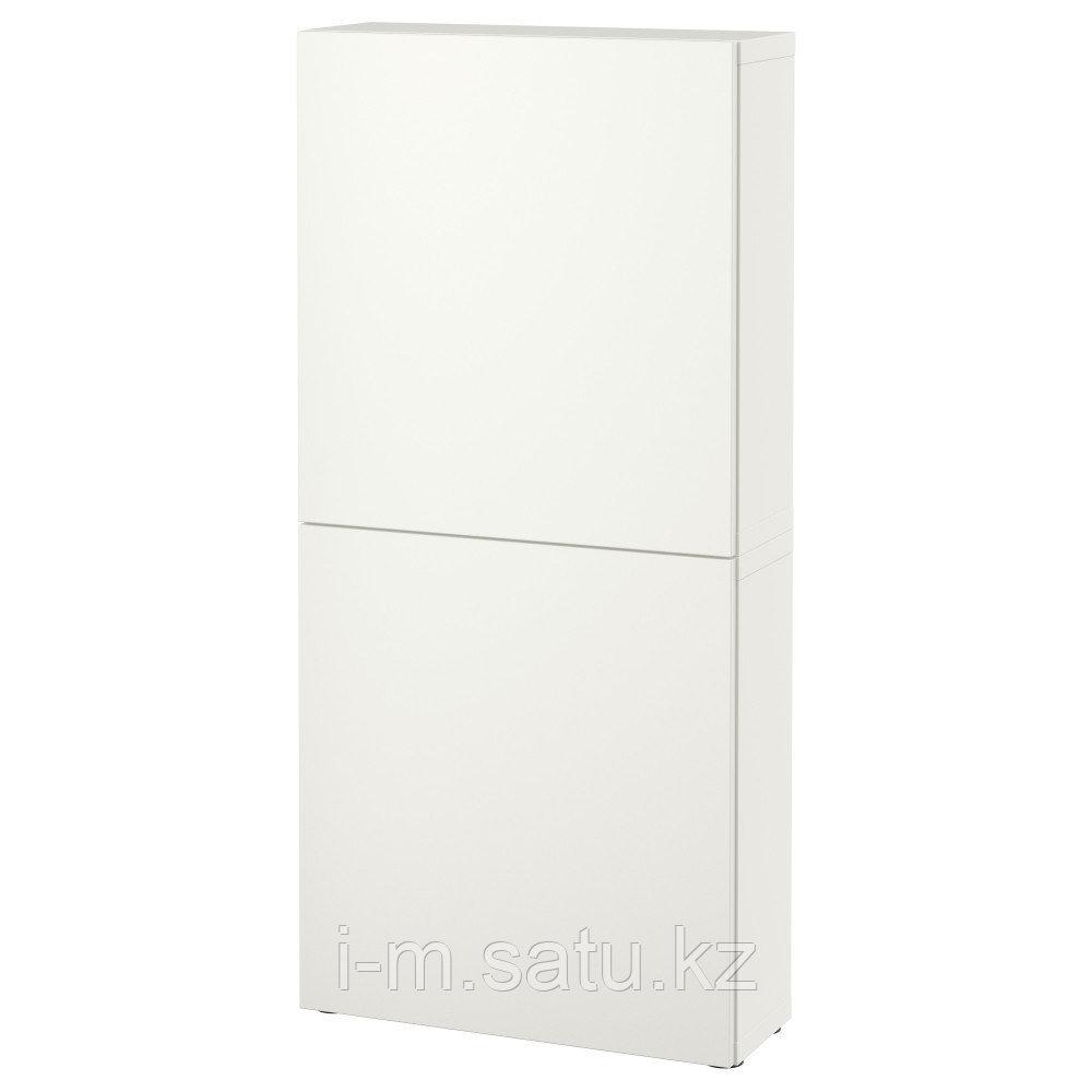 БЕСТО Навесной шкаф с 2 дверями, Лаппвикен белый, 60x22x128 см