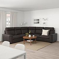ЛИДГУЛЬТ Угловой диван-кровать, 5-местный, Гранн/Бумстад темно-коричневый, Гранн/Бумстад темно-коричневый, фото 1