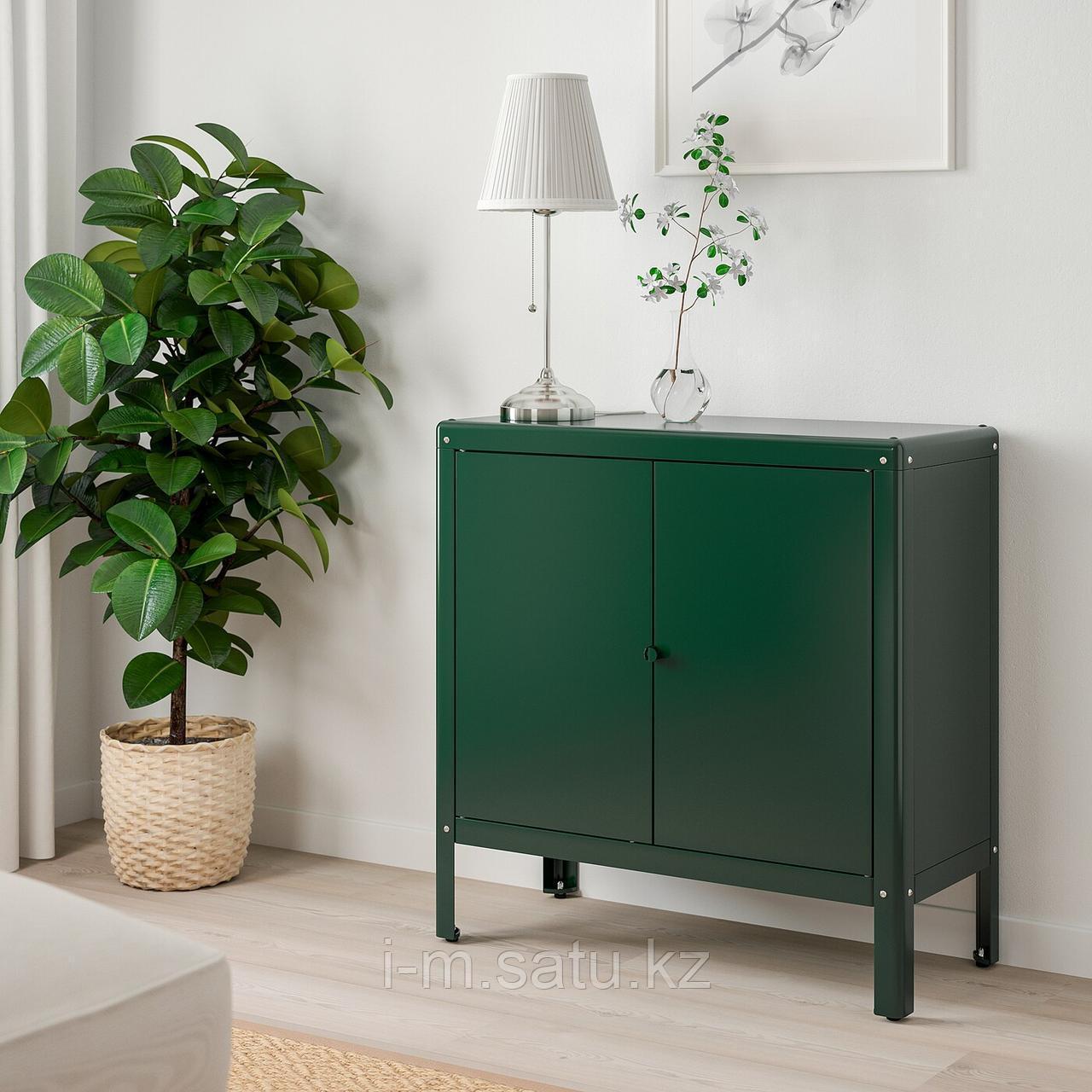 КОЛЬБЬЁРН Шкаф д/дома/сада, зеленый, 80x81 см