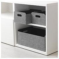 БЕСТО Коробка, серый, 25x31x15 см, фото 1