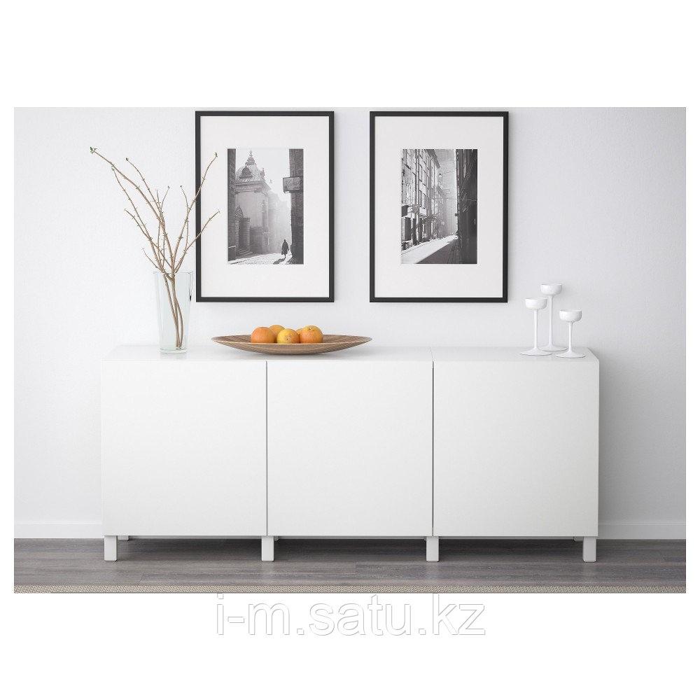 БЕСТО Комбинация для хранения с дверцами, Лаппвикен белый, 180x40x74 см