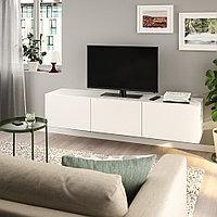 БЕСТО Тумба под ТВ, с дверцами, белый, Лаппвикен белый, 180x42x38 см, фото 1