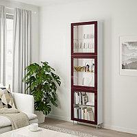 БЕСТО Комбинация д/хранения+стекл дверц, белый глассвик/сталларп, 60x22x202 см, фото 1