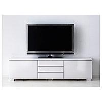 БЕСТО БУРС Тумба под ТВ, глянцевый белый, 180x41x49 см, фото 1