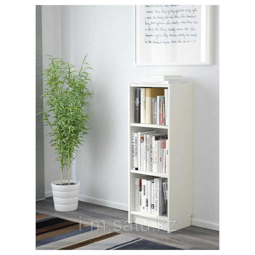 БИЛЛИ Стеллаж, белый, 40x28x106 см