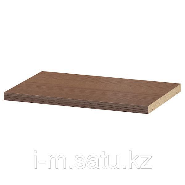 БИЛЛИ Полка дополнительная, коричневый ясеневый шпон, 36x26 см