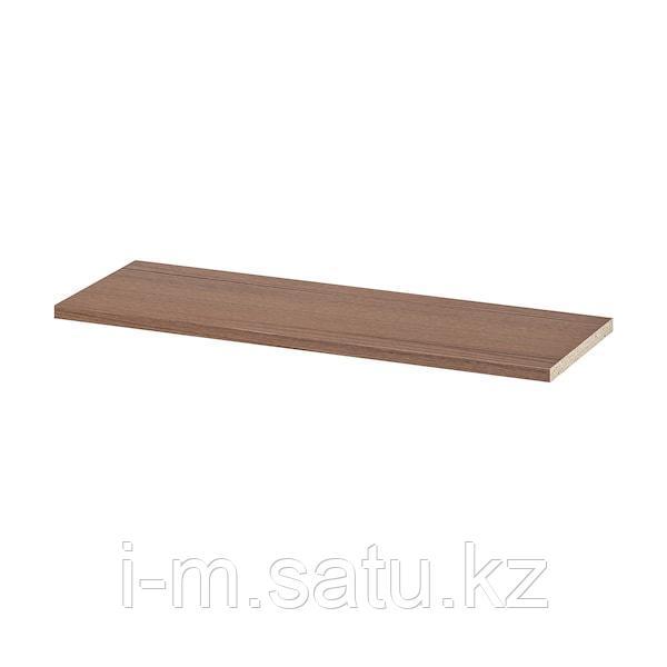 БИЛЛИ Полка дополнительная, коричневый ясеневый шпон, 76x26 см