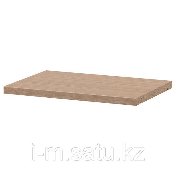 БИЛЛИ Полка дополнительная, дубовый шпон, беленый, 36x26 см