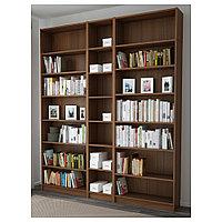БИЛЛИ Стеллаж, коричневый ясеневый шпон, 200x28x237 см, фото 1