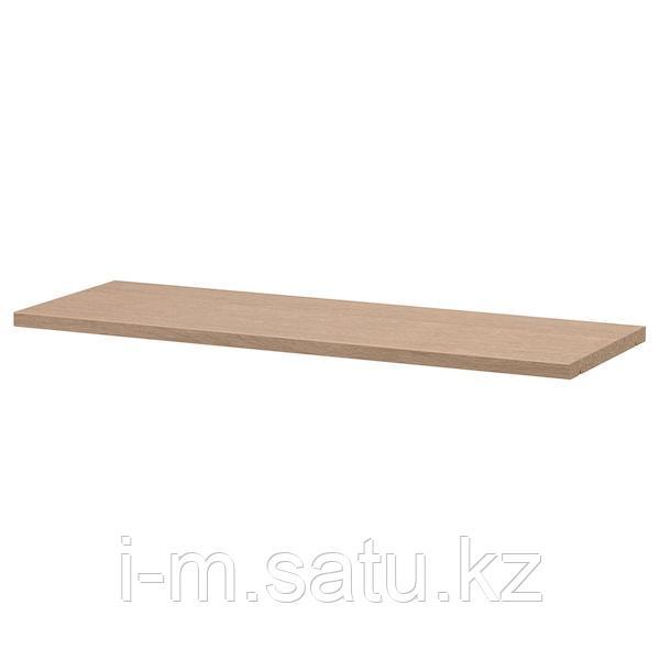БИЛЛИ Полка дополнительная, дубовый шпон, беленый, 76x26 см