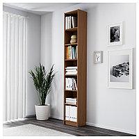 БИЛЛИ Стеллаж, коричневый ясеневый шпон, 40x28x237 см, фото 1