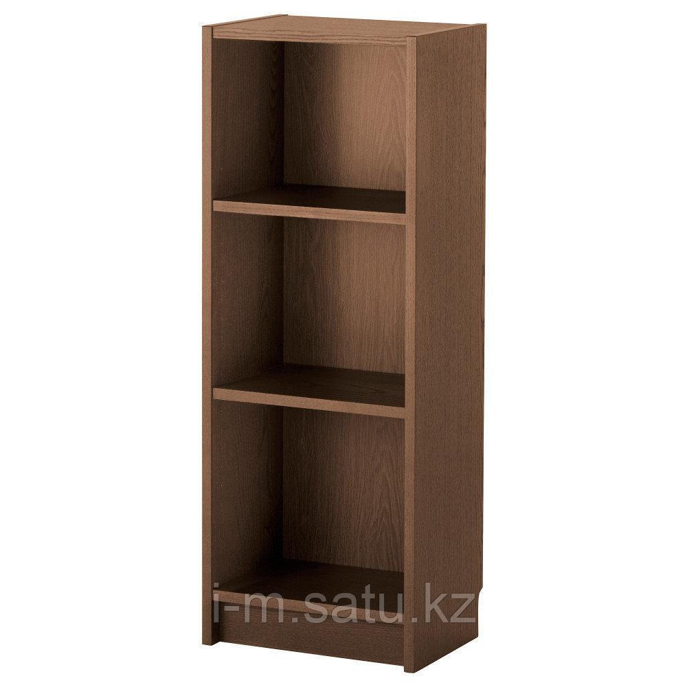 БИЛЛИ Стеллаж, коричневый ясеневый шпон, 40x28x106 см